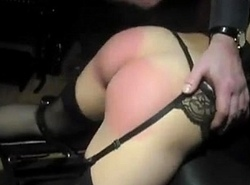 Stunning booty hard hand chastising by her Sky pilot