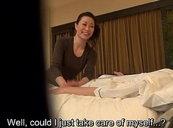 Subtitled Japanese mummy kneading psychiatrist sweet talk in HD