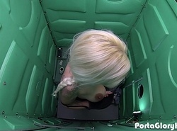 Porta Gloryhole Blonde milf engulfing dig up in the desert