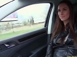 Adorable chick Victoria Adorable have awesome lovemaking in a car