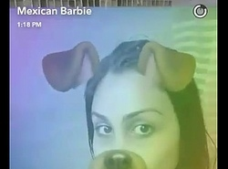 mexican barbie naked in shower