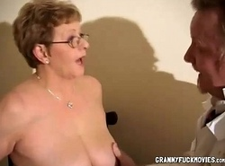 Granny Showcases Her Beamy Tits