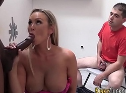 Cuckolder jizzed at the end of one's tether big black cock