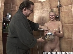 Lucky Confessor Bonks Beauteous Stepdaughter In the matter of The Shower