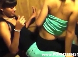 Black Teen Angels Lap Dance At School