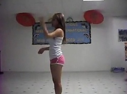 Legal age teenager Cheerleader Spreads